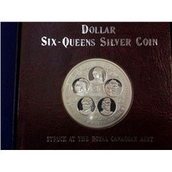 Cayman Islands: 50 dollars 1975, 5 Queens, KM # 12. Proof coin containing 1.9314 oz ASW.