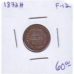 Newfoundland: 10 cents 1872H in F-12.