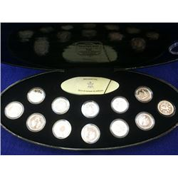 25 cents set 1999 in silver in case with box and COA.
