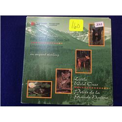 50 cents 1996, Discovering Nature Series; Little Wild Ones 4 coins set.