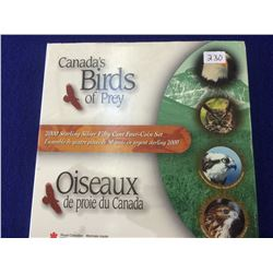 50 cents 2000, Discovering Nature Series; Birds of Prey 4 coins set.