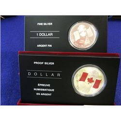 Silver Proof dollars 2005: limited edition with Enamel-effect & silver 40th Anniversary of the Natio