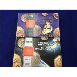 Proof Set 1999 & 2000 with box. Lot of 2 sets.