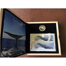 10 dollars 2010 proof, coins and stamps collection. One stamps of $10.00 face value.
