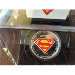 20 dollars 2014 Superman, The shield, in original case with COA and box.