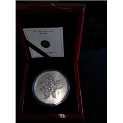 50 dollars 2013, 25th Anniversary of the Silver Maple Leaf in case with box and COA.