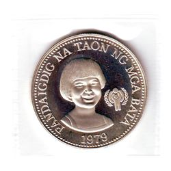 Philippines: 50 piso 1979 FM (P), International Year of the Child, KM # 229. Proof coin containing 0