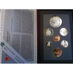 1996 set; Proof 1$, BU 1$, Proof 2$, Uncirculated 2$ on card with linen finish, Uncirculated Set (PL