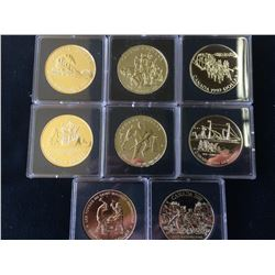 Bright Uncirculated Dollar 1986-1987-1988-1989-1990-1991-1992 & 1993. Lot of 8 coins.