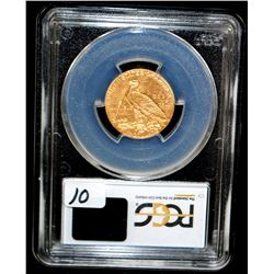 1908-D $5 INDIAN GOLD COIN - PCGS MS64
