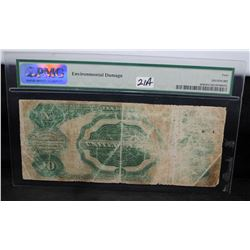 """$10 SILVER CERTIFICATE """"'TOMBSTONE"""" PMG G4"""