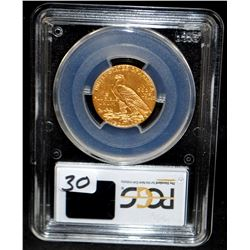 1909 $5 INDIAN GOLD COIN - PCGS MS63