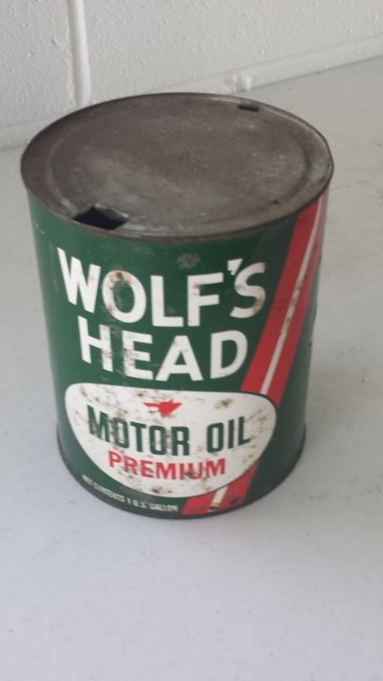 wolf 39 s head 1 gallon motor oil can