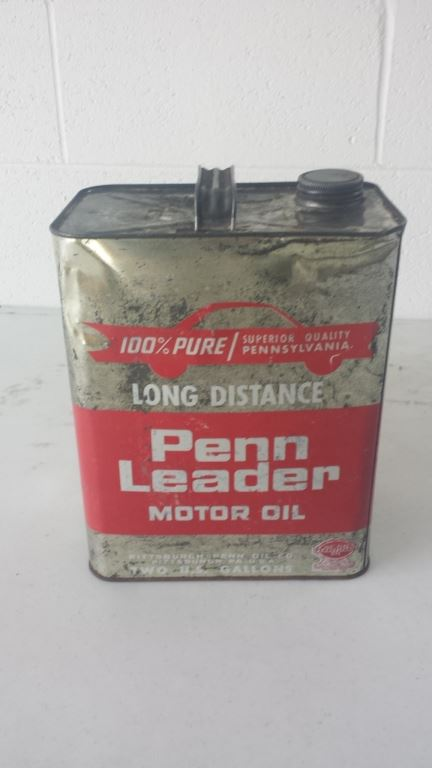 Penn leader 2 gallon motor oil can for Gallon of motor oil