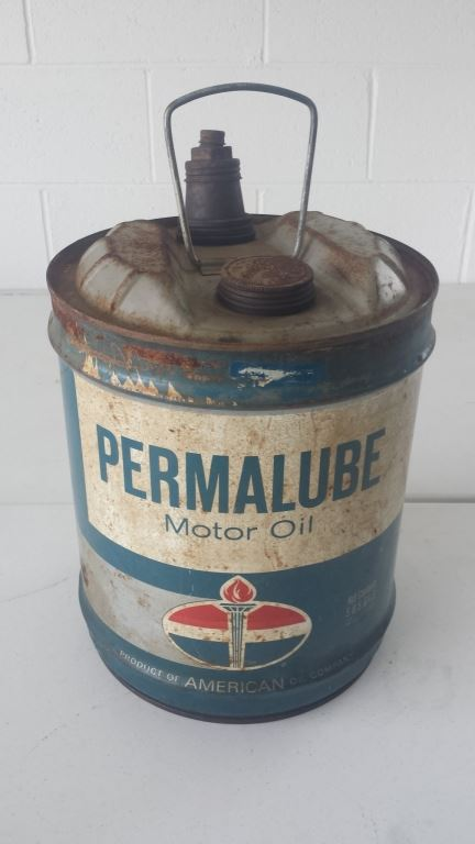 Permalube motor oil 5 gallon can for Gallon of motor oil