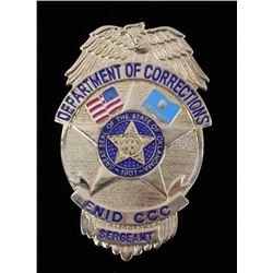 Department of Corrections Oklahoma Sergeant Badge
