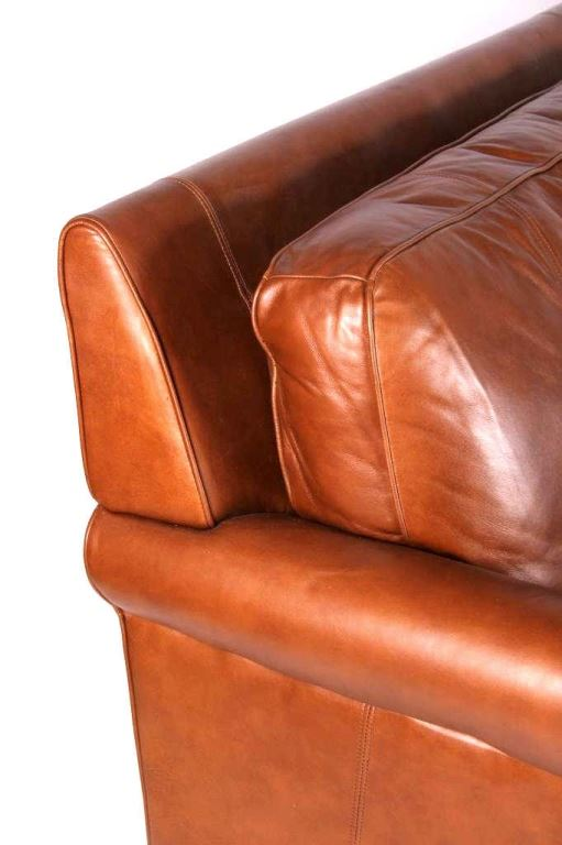 Image 2 Drexel Heritage Leather Couch