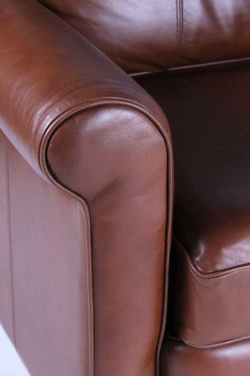 Image 6 Drexel Heritage Leather Couch