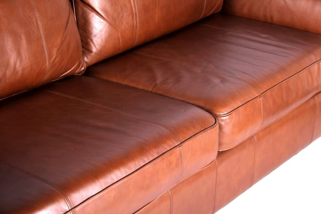 Image 8 Drexel Heritage Leather Couch