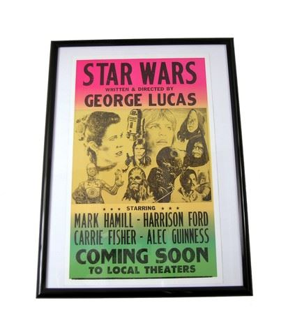 star wars poster framed