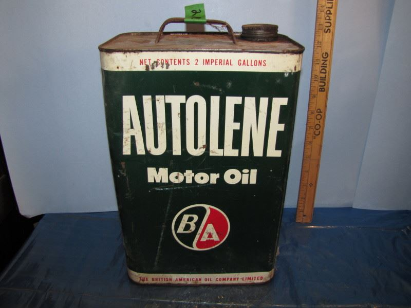 B a autolene motor oil 2 imperial gallon can for Gallon of motor oil price