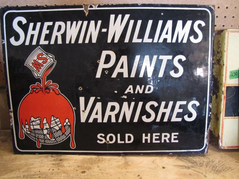 Paints And Varnishes : Sherwin williams paints and varnishes enamel double sided