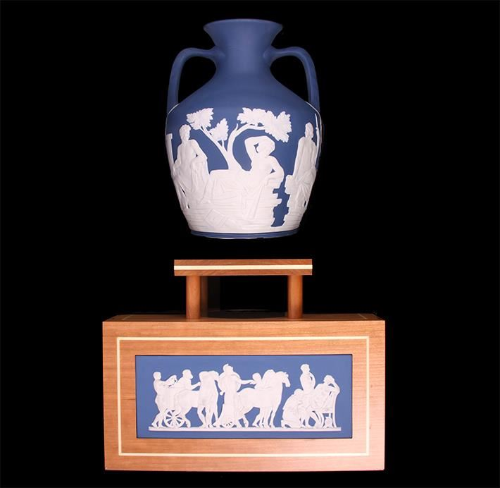 250th Prestige Collection Wedgwood Portland Vase With Stand