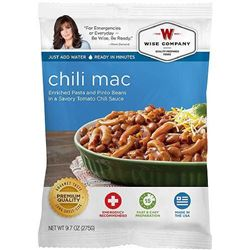 _NEW!_ Wise Foods 2W02207 Outdoor Food Packs 6 Ct/4 ServingsChili Macaroni 851238005097