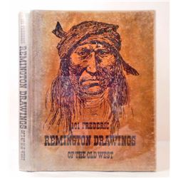 """1969 1ST ED. """"101 FREDERIC REMINGTON DRAWINGS OF THE OLD WEST"""" HARDCOVER BOOK"""