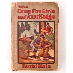"""VINTAGE """"THE CAMP FIRE GIRLS AND AUNT MADGE"""" HARDCOVER BOOK"""