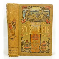 """VINTAGE """"HURLBUT'S STORY OF THE BIBLE"""" HARDCOVER BOOK"""