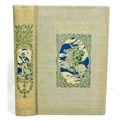 """1902 """"FAMOUS BATTLES BY LAND AND SEA"""" HARDCOVER BOOK"""