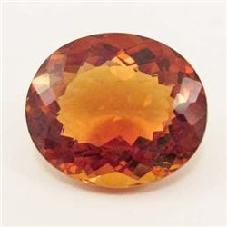 20.70 CT GOLDEN ORANGE BRAZILIAN CITRINE