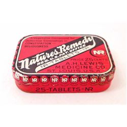 VINTAGE NATURES REMEDY ADVERTISING TIN