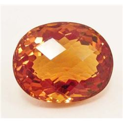 31.92 CT GOLDEN ORANGE BRAZILIAN CITRINE