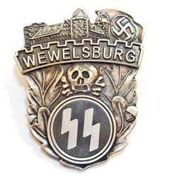 GERMAN NAZI WAFFEN SS WEWELSBURG CASTLE BADGE