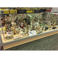 SHELF LOT OF SMALL FIGURINES