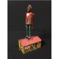 JAZZBO JIM 'DANCER ON THE ROOF' VINTAGE WIND-UP TOY