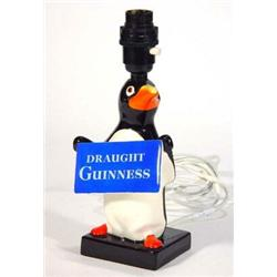 Hand Painted Carltonware Advertising Draught Guinness Penguin Table Lamp,  17cm Highu2026