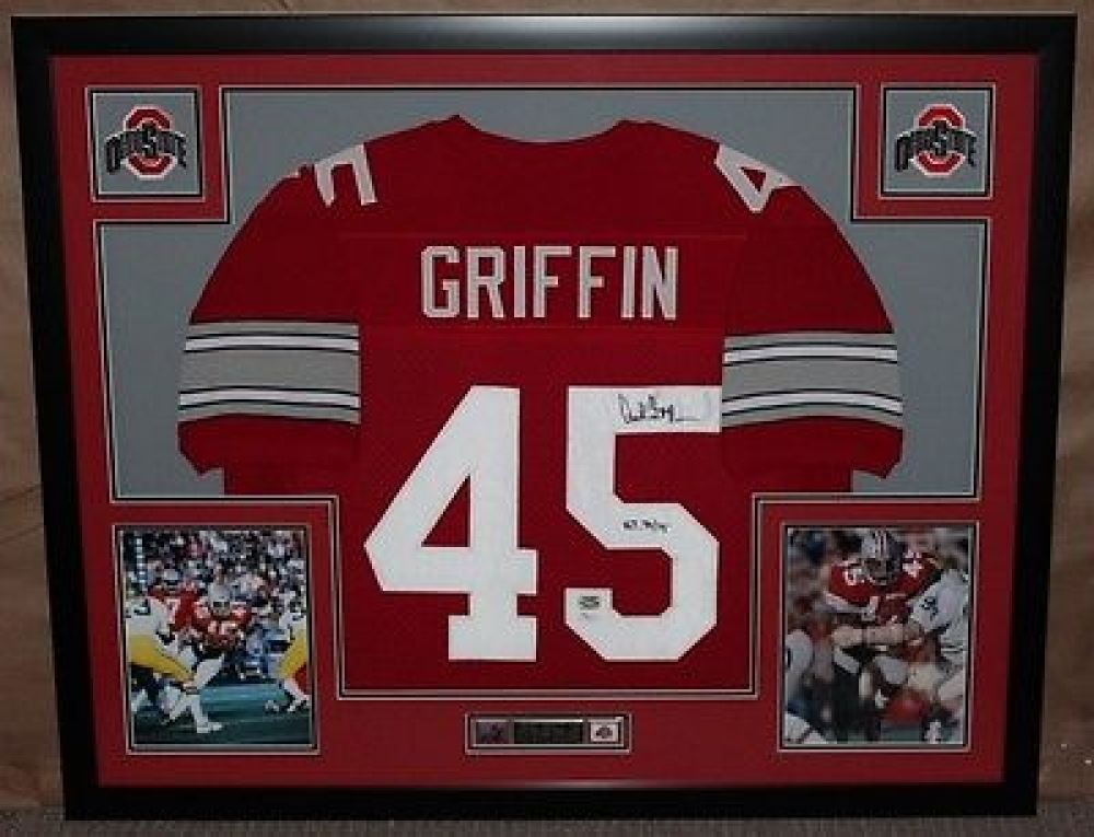 410d7539c Image 1   Archie Grifin Signed Ohio State 35 x43 Custom Framed Jersey  Inscribed