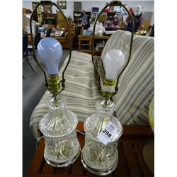 Glass Table Lamps (2)