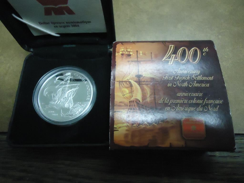 Canada proof silver dollar th anniversary st french