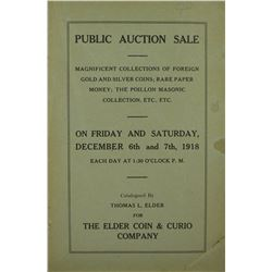 Elder Sale of the Poillon Collection