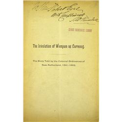 A Rare Monograph on Wampum