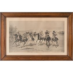 Frederic Remington, gravure etching