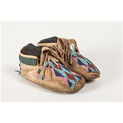 "Cheyenne Beaded Child's Moccasins, 5 ¾"" long"