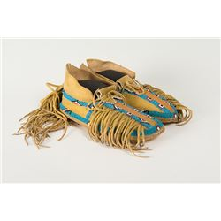 "Southern Plains (Kiowa) Woman's Moccasins, 8 ¾"" long"