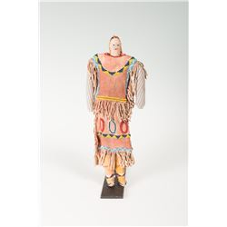 "Apache Beaded Doll, 13 ¾"" tall"