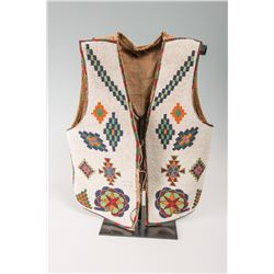 "Blackfeet Beaded Vest, 21"" x 16 ½"""