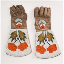 "Blackfeet Beaded Gauntlets, 15"" x 7 ¼"""